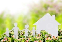 Het beeld van het concept een huis Stock Foto's