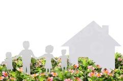 Het beeld van het concept een huis Stock Foto