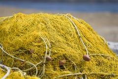 Het beeld van het detail van een traditioneel visserijnet Stock Foto's