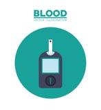 het beeld van het diabetesbloedonderzoek Stock Foto's