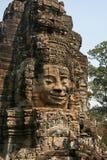 Het beeld van het Huamangezicht in angkor van Kambodja Stock Afbeelding