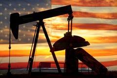 Amerikaanse Olie Royalty-vrije Stock Foto's