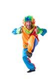Het beeld van het leuke clown tonen beduimelt omhoog stock foto's