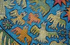 Het beeld van het mozaïek met vogels Stock Foto's