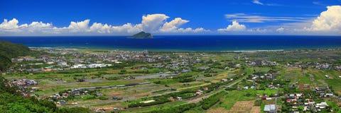 Het Beeld van het panorama van Oost-Taiwan in de Zomer Stock Afbeeldingen