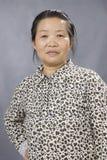 Het beeld van het portret van een oude Chinese vrouw Stock Foto's
