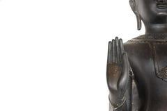Het beeld van het standbeeldboedha van Boedha als amuletten van Boeddhismegodsdienst die wordt gebruikt Stock Foto