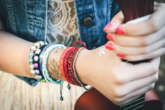 Het beeld van hippie Stock Fotografie