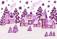 Het beeld van Kerstmis in frambozen roze kleuren Royalty-vrije Stock Afbeelding