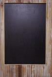 Het beeld van leeg bord op houten kader Royalty-vrije Stock Afbeelding