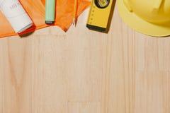 1 het Beeld van mei van kan 1 witte blokken houten kalender met constr Royalty-vrije Stock Afbeeldingen