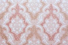 Het beeld van oud behang met doorbladert en bloeit Stock Afbeelding