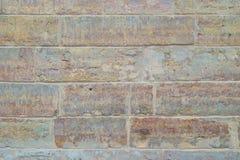 Het beeld van oude heldere bakstenen muurclose-up Royalty-vrije Stock Afbeeldingen