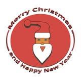 Het beeld van Santa Claus bij Kerstmis en Nieuwjaar Stock Fotografie