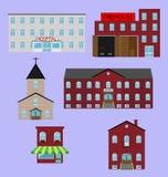 Het beeld van stadsgebouwen Stock Foto's