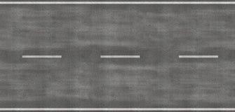 Het beeld van Tileable van strook van weg Royalty-vrije Stock Foto's