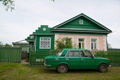 Het beeld van typisch ouderwets huis Royalty-vrije Stock Afbeelding