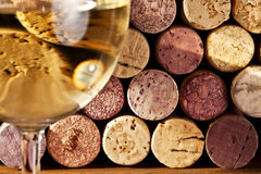 Het beeld van wijn kurkt Stock Foto