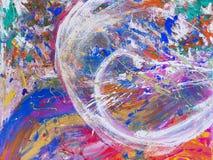 Het beeld, vat geschilderd canvas als veelkleurige achtergrond samen royalty-vrije stock afbeeldingen