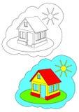 Het beeld voor het kleuren. Huis. stock illustratie