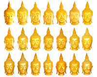 Het beeldhoofden van Boedha. Stock Foto
