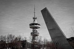 Het beeldhouwwerk 'zaag 'door Andrei Filippov stock foto