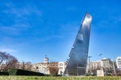 Het beeldhouwwerk 'zaag 'door Andrei Filippov stock afbeelding
