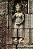 Het beeldhouwwerk in angkor wat van Kambodja Royalty-vrije Stock Foto's