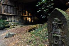 Het beeldhouwwerk en het hol van Boedha Stock Foto