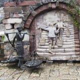 Het beeldhouwwerk in Oude stad van Ma zong Xi, het chongqing stock foto's