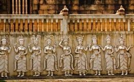 Het beeldhouwwerk van Apsara. Stock Afbeeldingen