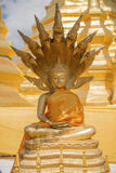 Het beeldhouwwerk van Boedha in de tempel van Thailand Stock Afbeelding
