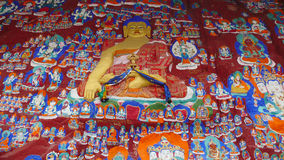 Het Beeldhouwwerk van Boedha in Lhasa Royalty-vrije Stock Foto