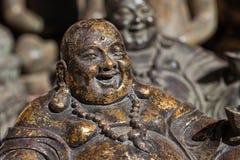 Het beeldhouwwerk van Boedha van het brons Stock Foto