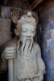 Het beeldhouwwerk van Chaina bij wat arun, Bangkok, Thailand Stock Foto