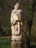 Het beeldhouwwerk van Cisterican van monnik stock afbeeldingen