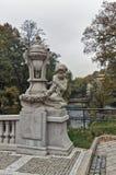 Het beeldhouwwerk van cupid, Karlovy vari?ërt royalty-vrije stock afbeelding