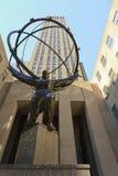 Het beeldhouwwerk van de atlas op het Centrum Rockefeller Stock Fotografie