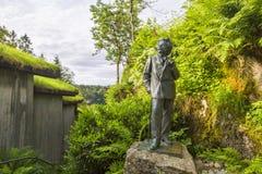 Het beeldhouwwerk van de beroemde Noorse componist Edvard Grieg Stock Afbeeldingen