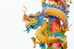Het beeldhouwwerk van de draak Stock Afbeelding