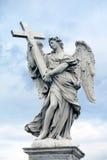 Het beeldhouwwerk van de engel in Rome, Italië Stock Afbeelding