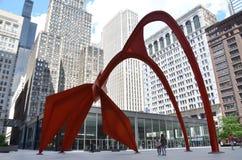 Het Beeldhouwwerk van de flamingo in Chicago Royalty-vrije Stock Afbeelding