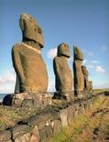 Het beeldhouwwerk van de godsdienst op het eiland van Pasen stock fotografie