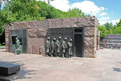 Het beeldhouwwerk van de honger van Franklin Delano Roosevelt me stock afbeeldingen