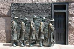 Het beeldhouwwerk van de honger van het Gedenkteken van Franklin Roosevelt Royalty-vrije Stock Fotografie