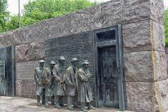 Het beeldhouwwerk van de honger van het Gedenkteken van Franklin Roosevelt stock fotografie
