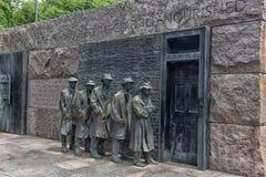 Het beeldhouwwerk van de honger van het Gedenkteken van Franklin Roosevelt stock afbeeldingen
