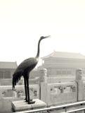 Het beeldhouwwerk van de kraan, Peking stock foto's