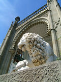 Het beeldhouwwerk van de leeuw Stock Afbeeldingen