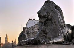 Het Beeldhouwwerk van de leeuw Stock Foto